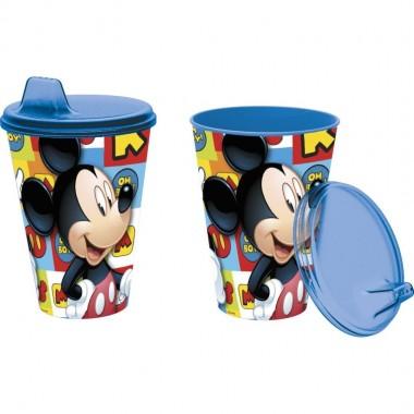 Copo com tampa Mickey