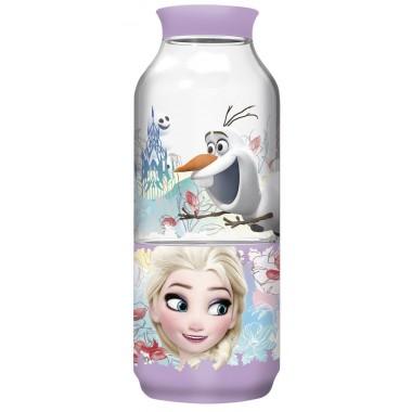 Garrafa com dispensador de snack Frozen