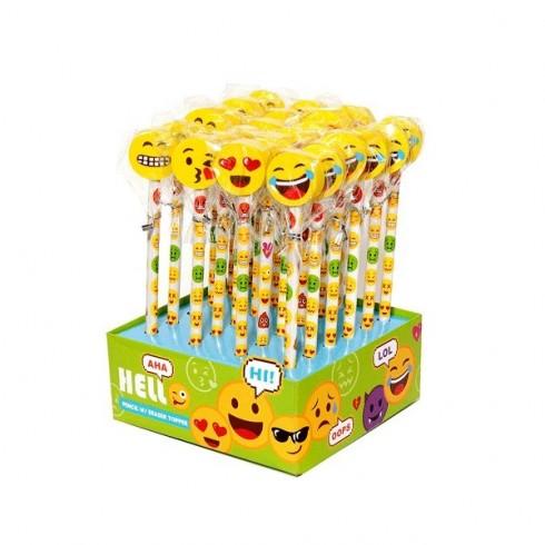 Lápis com borracha Emoji / Smile