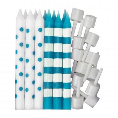 "12 Velas de Aniversário ""Dots & Stripes"""