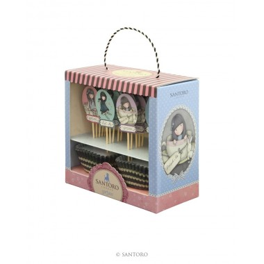 Embalagem de decorações para Cupcakes - Gorjuss