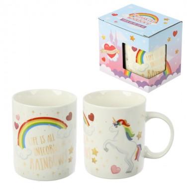 Caneca Unicórnio arco-iris encantado