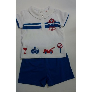 Conjunto bebé T-Shirt + Calção - Patrulha Pata