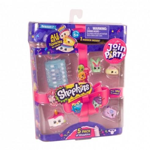 Shopkins - Pack 5 Figuras (vários modelos) - Concentra