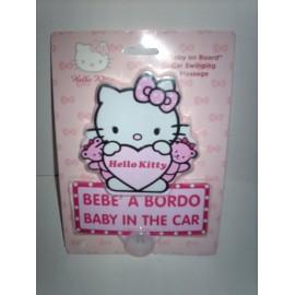 Mensagem para carro Hello Kitty