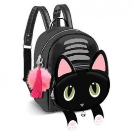Mochila de Passeio Oh My Pop Fashion Shy Cat