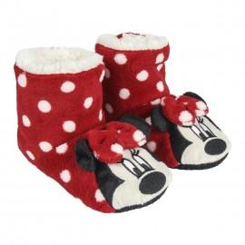 Pantufas bota Minnie Mouse