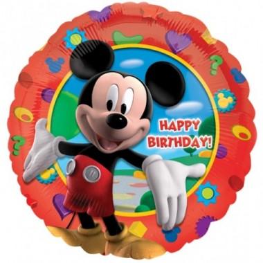Balão metalizado Mickey - Feliz Aniversario