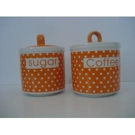 Conjunto de frascos para Açucar e Café