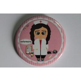 Crachá/Pin Personalizado -Enfermeira