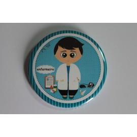 Crachá/Pin Personalizado - Enfermeiro