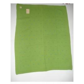 Manta Dona Manta tricotada de lã c/ V