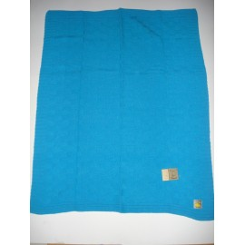Manta Dona Manta tricotada de lã c/ quadrados
