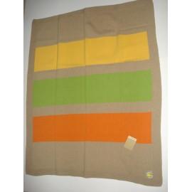 Manta Dona Manta tricotada de lã c/ rectangulos