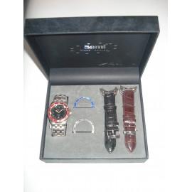 Conjunto de relógio com duas braceletes e duas argolas