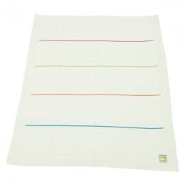 Manta Dona Manta tricotada em algodão - Riscas