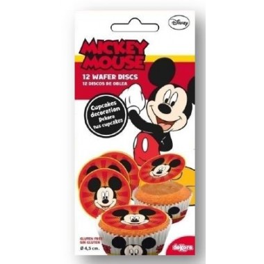 Mini Discos p/ decorar muffins/cupcakes -Mickey
