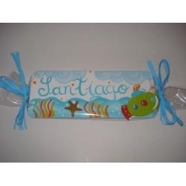 Placa de Porta nome Santiago