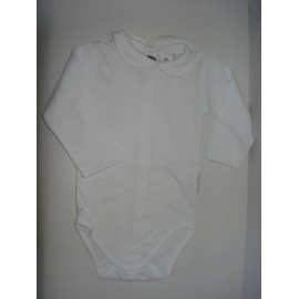 Body de malha branco manga comprida - Pim pam pum