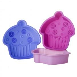Molde em forma de cupcake