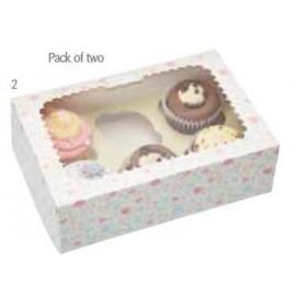 Embalagem com 2 caixas individuais para cupcakes