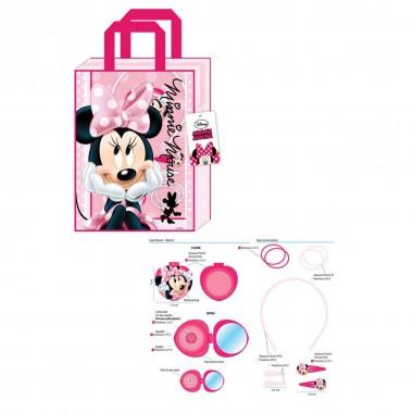 Bolsa com acessórios de cabelo Minnie Mouse