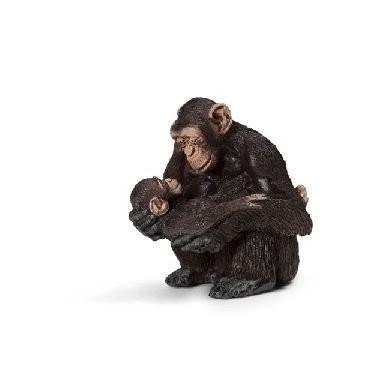 Chimpanzé Fêmea c/ bebé- Schleich