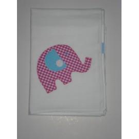 Fralda Patchwork - Elefante