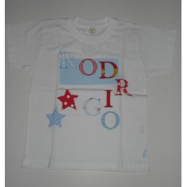 T-Shirt Patchwork Rodrigo - 6 anos