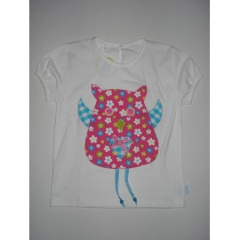 T-Shirt Patchwork  Mocho / Coruja - 6 anos