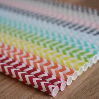 Embalagem 25 palhinhas coloridas