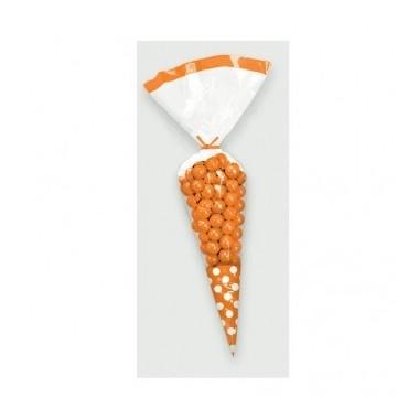 Bolsas em cone com bolinhas