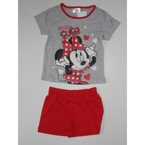 Conjunto T-Shirt + Calção - Minnie Mouse