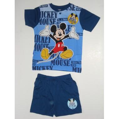Conjunto T-Shirt + Calção Mickey Mouse