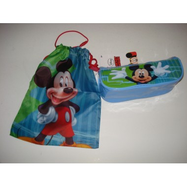 Conjunto Saco / Estojo Mickey / Minnie