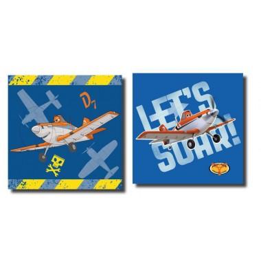 Almofada quadrada Planes/Aviões
